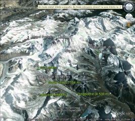 Mapa Lhotse BC