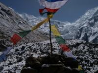 Nebezpečný ľadovec v severných svahoch Annapurny.