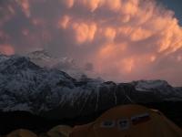 Búrka nad Annapurnou.