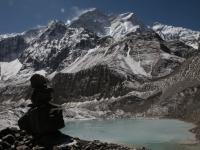 Jazerá pod BC a SZ stena Annapurny.