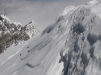 Východný vrchol Annapurny z hlavného vrcholu.