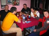 Peter, Piotrek, Zbyszek, Justyna a pani Anna.