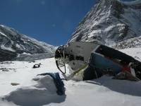 Vrak vrtuľníka pod BC.