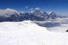 Hrebeň Nilgiri a Annapurna I.