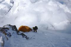 Tretí tábor na SV hrebeni Dhaulágirí..