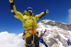 Michal Sabovčík na vrchole Dhaulágirí.