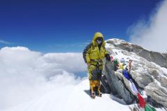Peter Hámor na vrchole Dhaulágirí.
