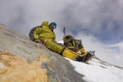 Spoločný oddych na vrchole Dhaulágirí.