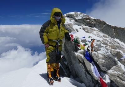 23.Peter Hámor na vrchole Dhaulagiri