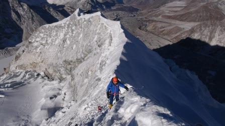 Vrcholový hrebeň Island Peaku