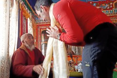 Lama Nawang Paljur a Horia v kláštore v Pangboche.