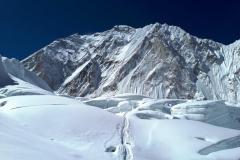 Nuptse a záver ľadopádu Khumbu.