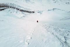 Lezenie v JZ stene Západného ramena Everestu.