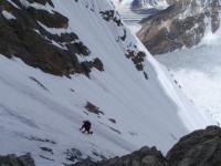 V JZ stene GI - druhý deň ľadového lezenia v Španielskej ceste.