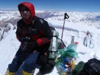 Piotrek Morawski na najvyššom bode Gasherbrumu I.