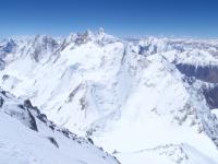 Gasherbrumy II, III a IV, Broad Peak a K2 z vrcholu G I.