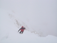Piotrek Morawski pod vrcholovým serakom.