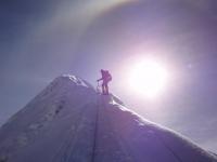 Skoré ráno na vrchole.