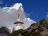 Taboche (6 367 m) cestou do základného tábora Lhotse.