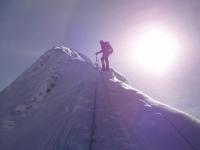 Užívam si rozprávkové ráno na vrchole Island Peaku.