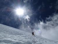 Posledný hang pod ramenom K2.