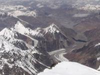 Pohľad z vrcholu K2 na sever.