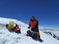 Pavel na vrchole K2.