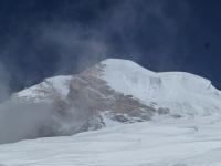Bottleneck previsnutý serak a vrchol K2.