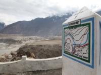 Sútok riek Indus a Gilgit.