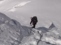 Ľadová bariéra pod prvým táborom.