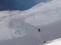 Hľadanie cesty  do C 3 cez Horný ľadovec.