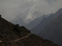 Ama Dablam (6 856 m) cestou do Tengboche.