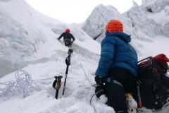 Horia a Michal v ľadovci pod C2.