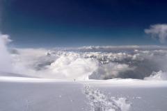 Zostup z vrcholu Manaslu.