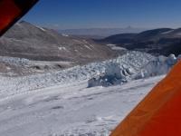 Nádherný výhľad z tábora vo výške 6 200 metrov nad morom.