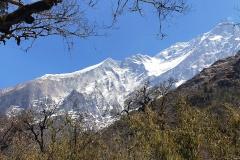 Severozápadný hrebeň a západná stena Dhaulágirí.
