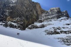 Marius a Horia na konci vstupného ľadového poľa.