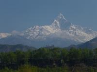 Machapuchare z Pokhary.