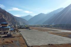 Letisko v dedine Jomosom.