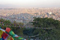 Pohľad na Kathmandu zo Swayambhunathu.